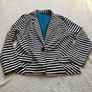 A.n.a black and white striped blazer size XL